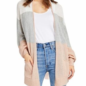 NWT GENTLE FAWN Color Blocked Wool Blend Cardigan